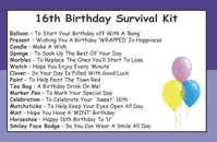 16th Birthday Survival Kit In A Can